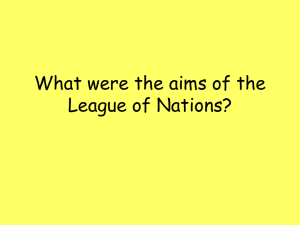 Aims of the League of