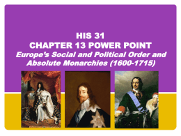 HIS 31 Chapter 13 Power Point