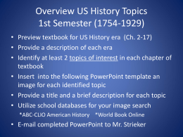 Explore US History PowerPoint