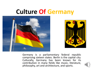 Culture Of Germany