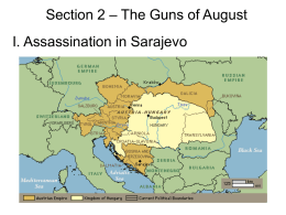 Section 2 – The Guns of August