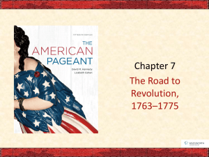 Ch 7 The Road to Revolution