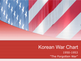 Korean War Chart