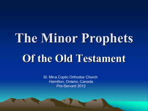 OT28 - Minor Prophets - Saint Mina Coptic Orthodox Church