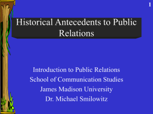 Historical Antecedents to Public Relations