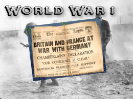World War 1 presentation