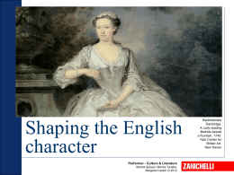 Shaping the English character