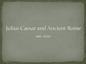 Julius Caesar and Ancient Rome