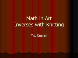 Ms Curran Inverses with Knitting