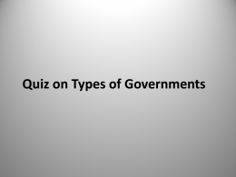 PPT Types of Government Quiz