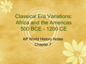 Classical Era Africa PowerPoint - AP World History with Ms. Cona
