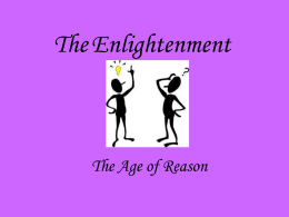 Powerpoint of the Enlightenment