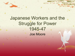 PowerPoint Presentation - Japanese Workers and the Struggle for