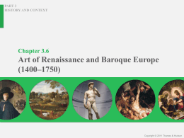 Chapter 3.6 Art of Renaissance and Baroque Europe