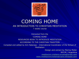 Presentation - The school of meditation