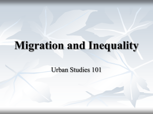 Lecture 8 Migration and Inequality