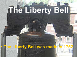 Nathan Hale and the Liberty Bell