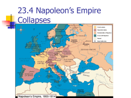23.4 Napoleon`s Empire Collapses