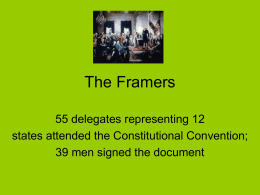 """Meet the Framers"" Slide Presentation Powerpoint"