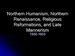 Northern Humanism, Northern Renaissance, Religious