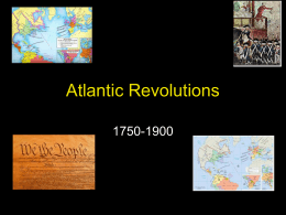 Atlantic Revolutions - White Plains Public Schools