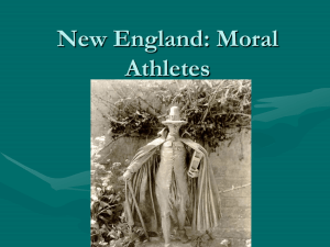 New England: Moral Athletes