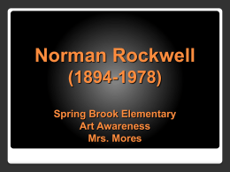 Norman Rockwell (2) - Spring Brook Elementary School