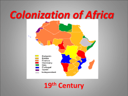 Colonization of Africa PPT