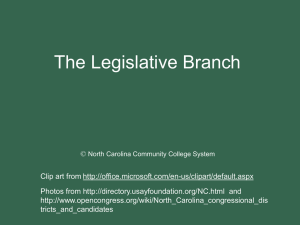 Lesson 5: The Legislative Branch - NC-NET