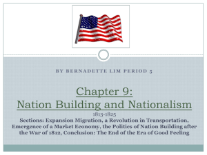 Chapter 9: Nation Building and National