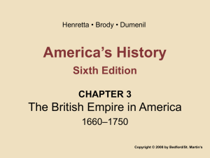 America`s History Sixth Edition CHAPTER 3