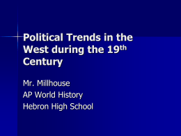Political Trends in the West during the 19th (revised)
