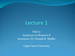 Lecture 1 - Upper Iowa University