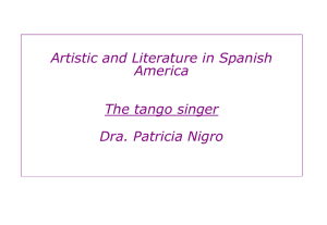 The tango singer - culturespanishamerica