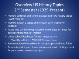 United States Overview PowerPoint (1929-Present)