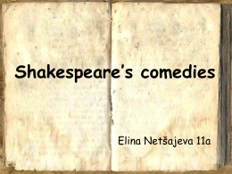 Shakespeare`s comedies