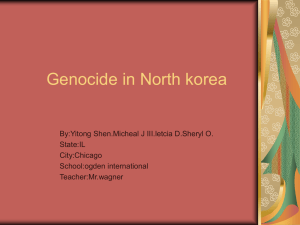AN power point about north korea.