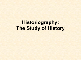 Historiography- US2H