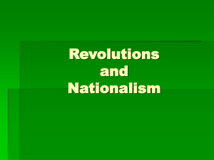 Chapter 24 - Revolutions and Nationalism