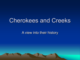 Cherokees and Creeks