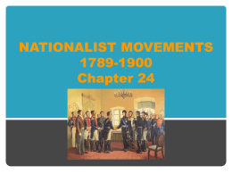 Chapter 24 Power Point (Nationalist Movements)
