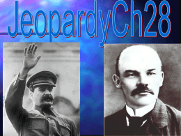 Ch 26 The Russian Revolution Jeopardy