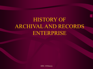 history of archival and records enterprise