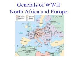 Generals of WWII North Africa and Europe