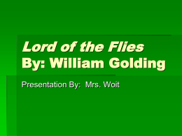 William Golding Biography (PowerPoint)