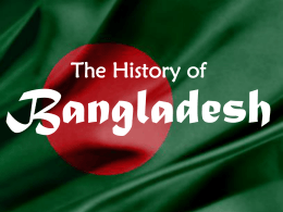 The History of Bangladesh