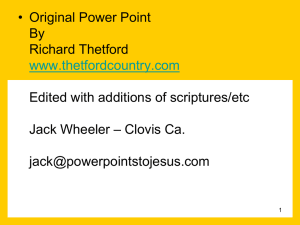 Cross of Christ - Power Points to Jesus