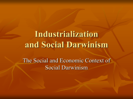Industrialization, Imperialism and Social Darwinism
