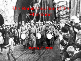 The Remilitarisation of the Rhineland