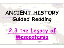 ANCIENT HISTORY: Guided Reading 1.3 The Beginnings of Human
